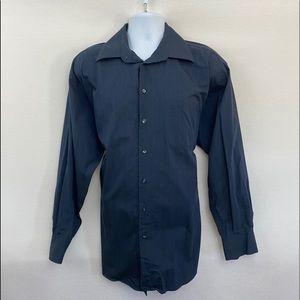 Men's Claiborne Striped Dress Shirt Size 17 X-33